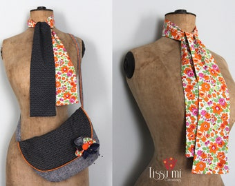 SCARF Japan and LIBERTY blue and orange