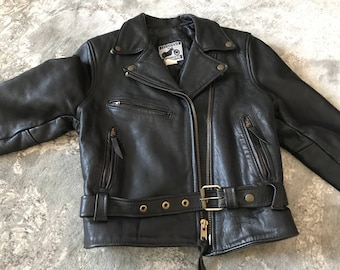 Vintage Women's Size 12 Leather Motorcycle Jacket FREE SHIPPING