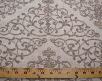 Scroll Taupe Fabric
