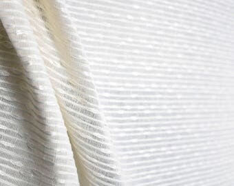 Rickon Alabaster Sheer Fabric
