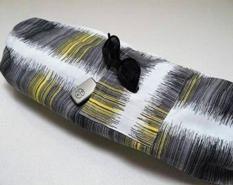 NEW XL Yoga Bag - Exercise mat bag - yellow grey and white with Large pocket