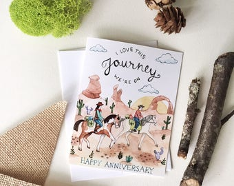 Love This Journey Anniversary Card