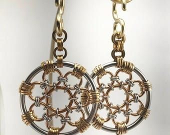 Chainmaille Ear Weights #2