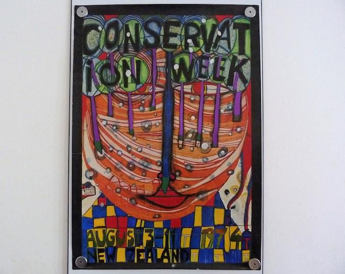 Hundertwasser Conservation week 1974 Original poster