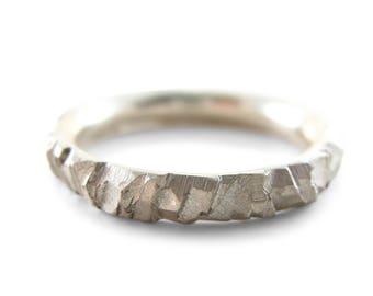 Meteorite commitment ring | mens commitment ring | man wedding band meteor | commitment band | solid gold commitment ring | commitment ring