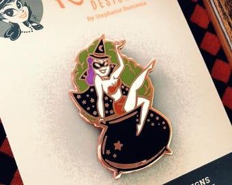 Cauldron Cutie Pin-Purple Hair