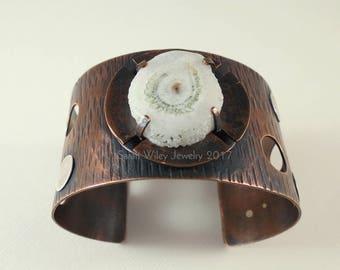 Cuff Bracelet: Solar Quartz Copper Cuff Bracelet by Sarah Wiley Jewelry 170017QB