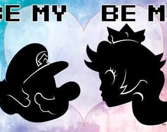 Be My Mario, Be My Princess 11x17 print