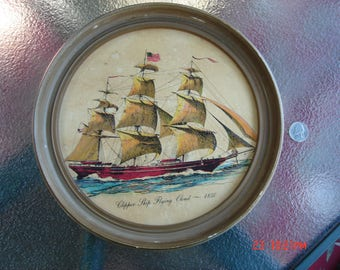 Vintage Clipper Ship Flying Cloud - 1850 Lithograph
