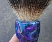 Amethyst 26mm Silvertip Badger Shaving Brush, Chunky Handled, 26 mm
