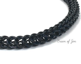 Black Chainmaille Collar RESERVED
