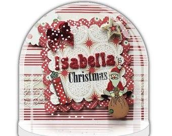 Christmas snow globe | Etsy