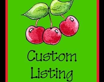 Custom listing for JeJaeger
