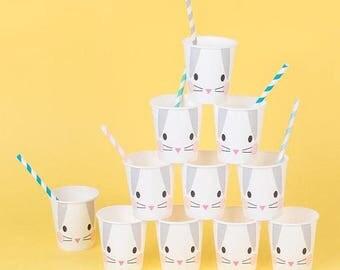 Bunny Rabbit Paper Cups pk 8