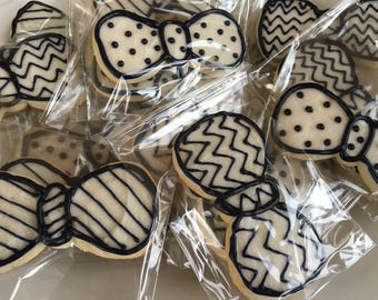 Bow Tie Sugar Cookies, Buttercream Decorated Cookies, Baby Shower Favors, Sweet Treats