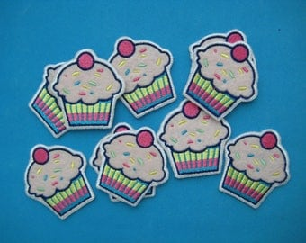 Clearance~ 10 pcs iron-on Embroidered applique Cake 2 inch
