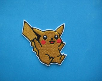 Iron-on Embroidered Patch Pikachu 2.5 inch