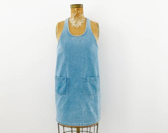 Vintage Denim Dress with pockets/Summer Dress