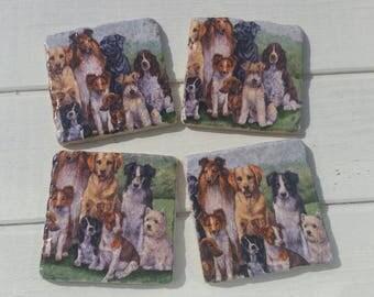 Dog 'Sit' Coaster Set of 4 Tea Coffee Beer Coasters