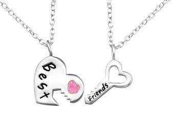 925 Sterling Silver Best Friends Necklace