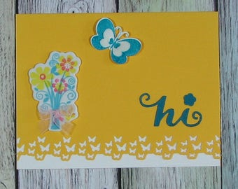 Yellow Hi! handmade card-CB81217-35