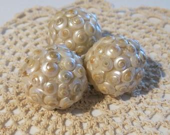 Sea Shell Decorative Ball:  Small (Pearl Shells)