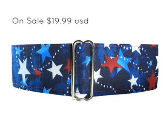 4th of July Martingale Collar, Red White and Blue Martingale Collar, Red White Blue Dog Collar, 4th of July Dog Collar, Independence Day