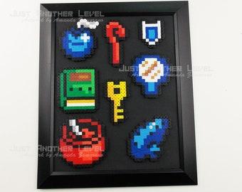 Legend of Zelda Link to the Past Items Framed