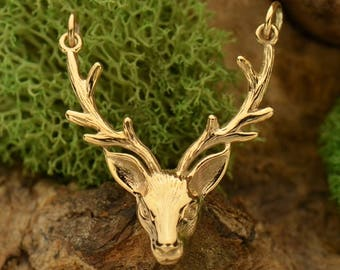 Bronze Realistic Stag Head Festoon