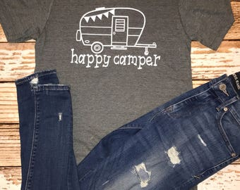 happy camper shirt camping shirt outdoor shirt