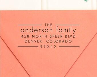 Address Stamp, Return Address Stamp,  Self Inking Return Address Stamp, Wedding Return Address Stamp, RSVP Stamp, Custom Stamp - No. 61
