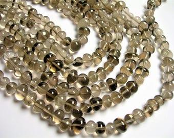 Smoky Quartz - bead - full strand - nugget - pebble - A quality - smoky quartz - PSC349
