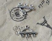 24pcs Antique silver Connector pendant, charm Metal Earring Components ,earring Pendant charm,jewelry pendant finding