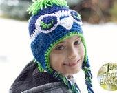 MOHAWK Kids Seattle Seahawks Inspired Hat aka The Awesome Hawk