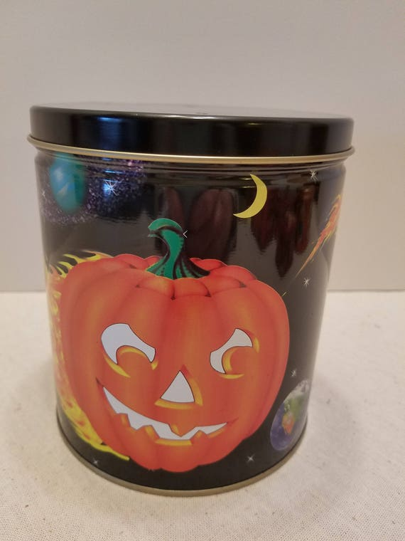 Pumpkin Candy or Cookie Tin - By Maurice Lenell Cooky Company - Made in USA - Chicago ILL 1998 - Almost Vintage