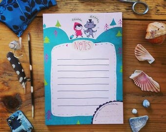 Notepad shows: little Red Riding Hood and the Wolf