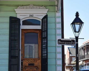 New Orleans- NOLA- French Quarter- Architecture- Creole Cottage Burgundy Street - Fine Art Photography