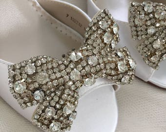 Wedding Shoes Crystal Bow Wedding Shoes Bow Shoe Clips Bridal Wedding Shoe Clips Crystal Shoe Clips Crystal Bows For Shoes Removable Clips