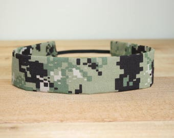 NWU III Navy Adult Headband Military Green Digital Camo