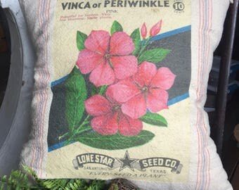 Grain Sack Pillow Cover Periwinkle by Gathered Comforts