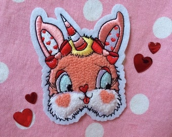My Bunny Valentine Bunny Unicorn Chenille Patch