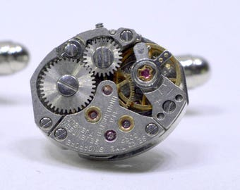 Industrial SEIKO watch movement cufflinks ideal gift for a wedding, birthday or anniversary 81