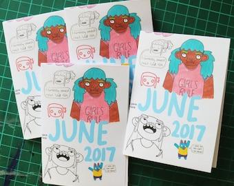 June 2017 Art Zine Sketchbook