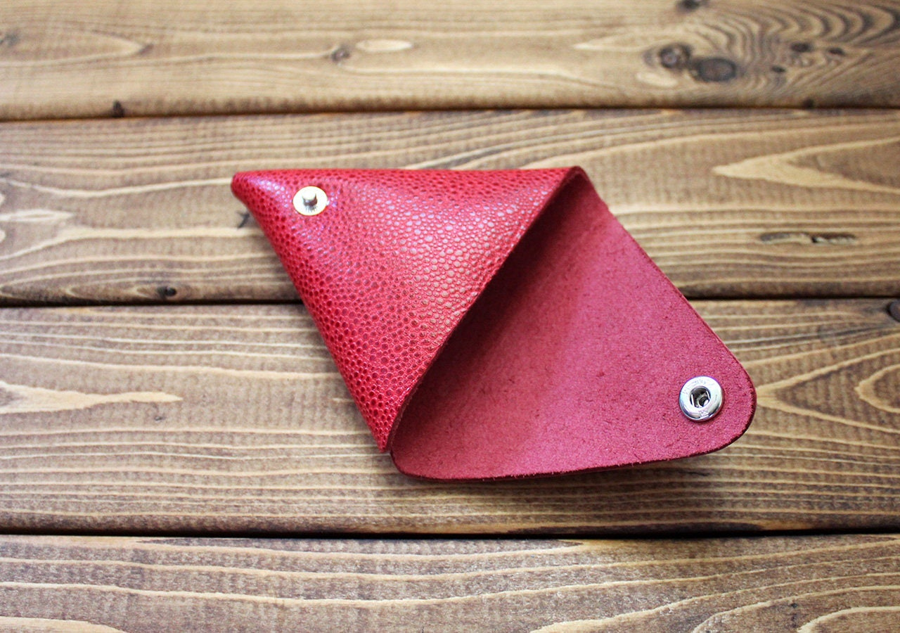 Leather Change Purse, coin purse, Earbud keeper, guitar pick holder ...
