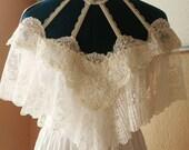 Off shoulder wedding dress, white dress, wedding dress, vintage dress, Victorian dress, party dress, reception dress, rehearsal dress, lace