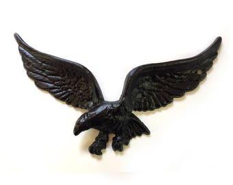 """Vintage, American Spread Eagle, 9"""" Metal Eagle, Wall or Door Plaque or Eagle Wall Hanging"""