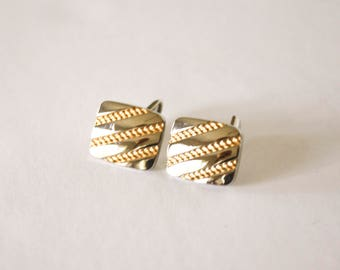 Silver Rounded Corner Cuff links