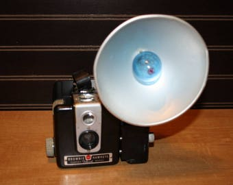 Vintage camera Kodak Brownie Hawkeye flash model with flash holder - item #2830