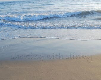 BELIEVE - PRINT fine art photograph writing in the sand with starfish, crystal archive lustre paper, sand writing beach, sand words