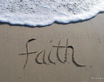 FAITH, Writing in the Sand, Instant Download